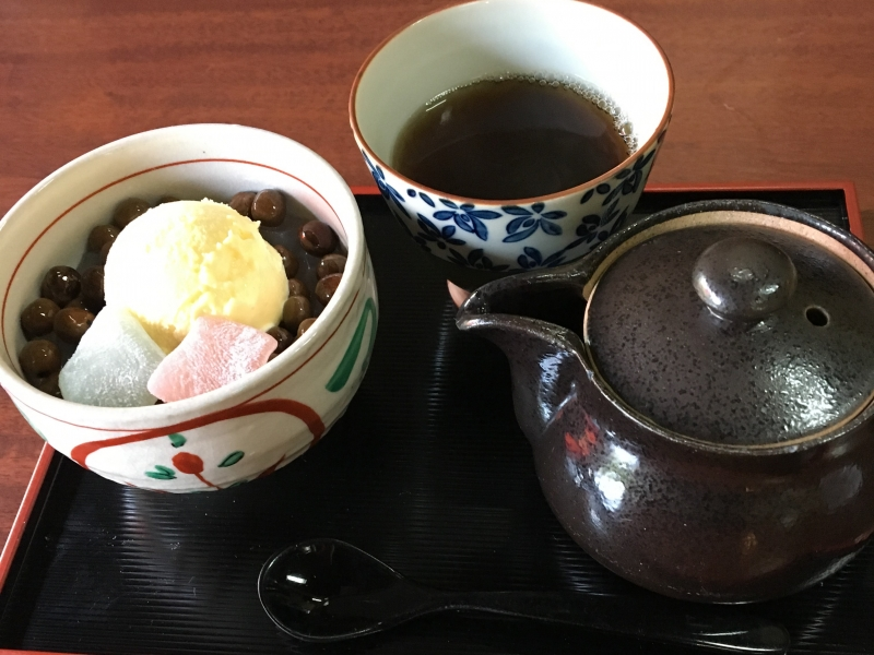 Let us have a tea break in a small local cafe.