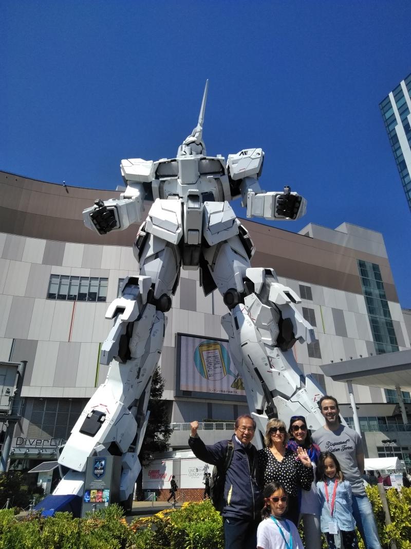 No dejen de visitar a Tokio Japón. Este robot gigante