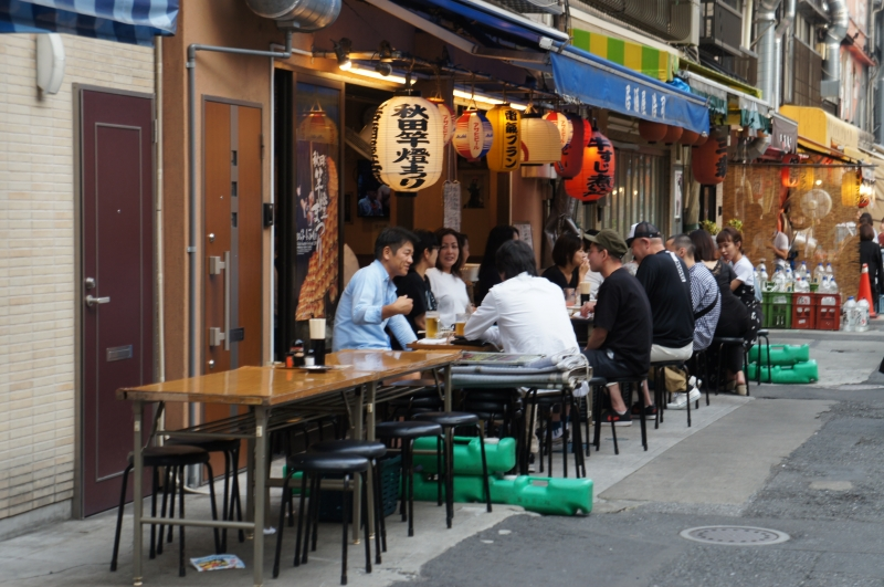 Local people make use of these kinds of open-air restaurant.