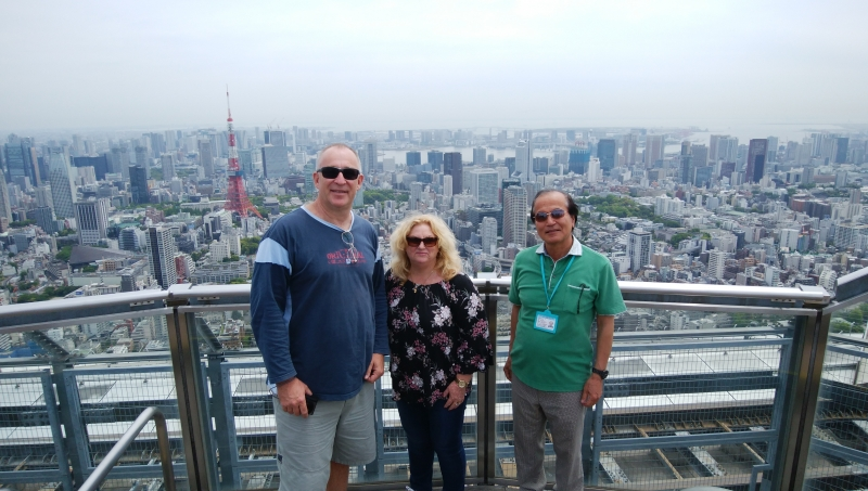 At Roppongi-hills. Enjoy spectacular view from Sky-deck.