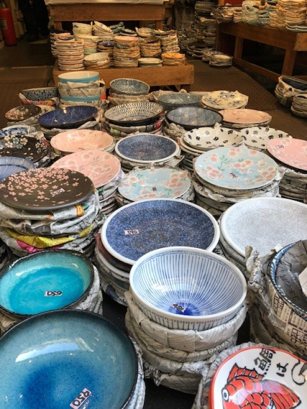 Beautiful pottery is a popular souvenir bring back to the country.