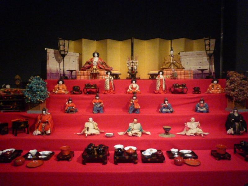 Hina Dolls in Date Museum.