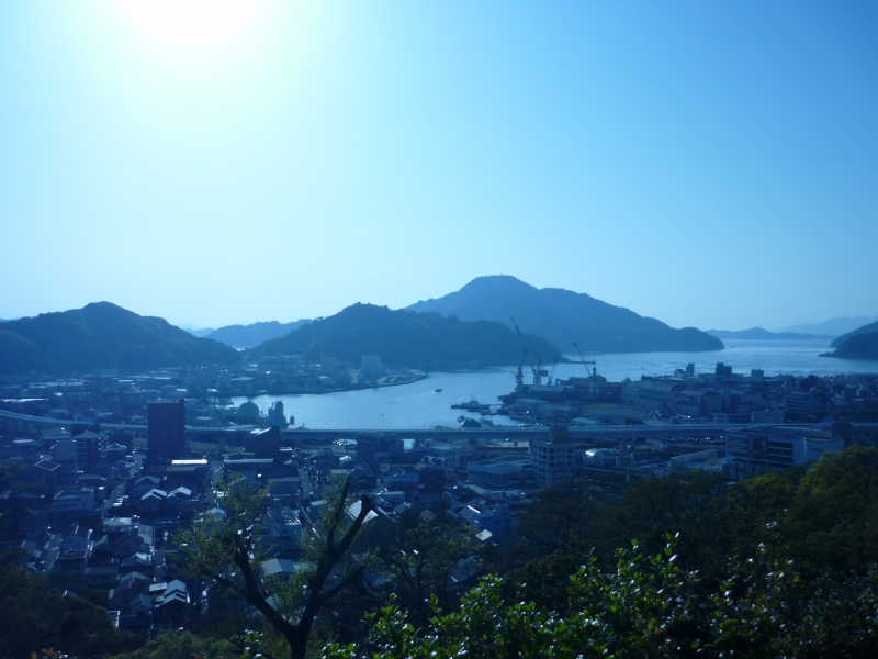The panoramic view from Uwajima castle keep