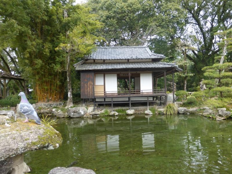 The calligraphy room in Tenshaen Garden ( Harusame-tei)
