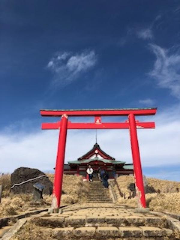The close view of Hakone Motomiya Shrine
