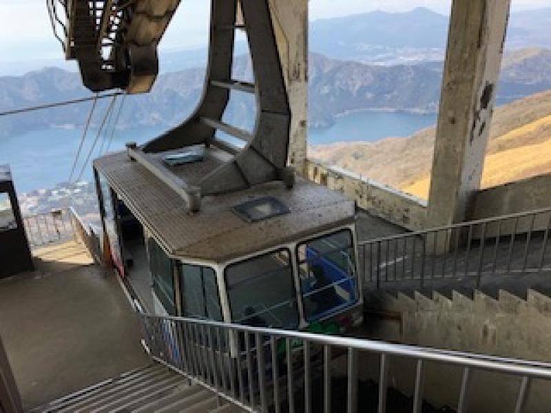 The rope-way for Mt. Komagadake (1,356m)