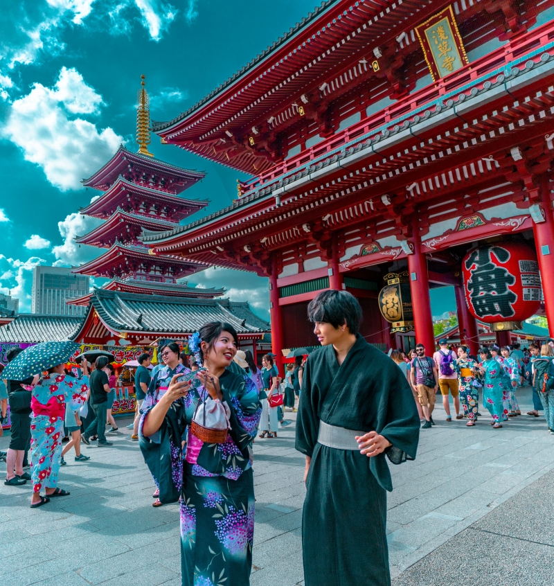 Asakusa is a wonderful place to visit. You can explore traditional Japanese foods and know the religious culture background. You can also enjoy shopping souvenirs for your family or friends.