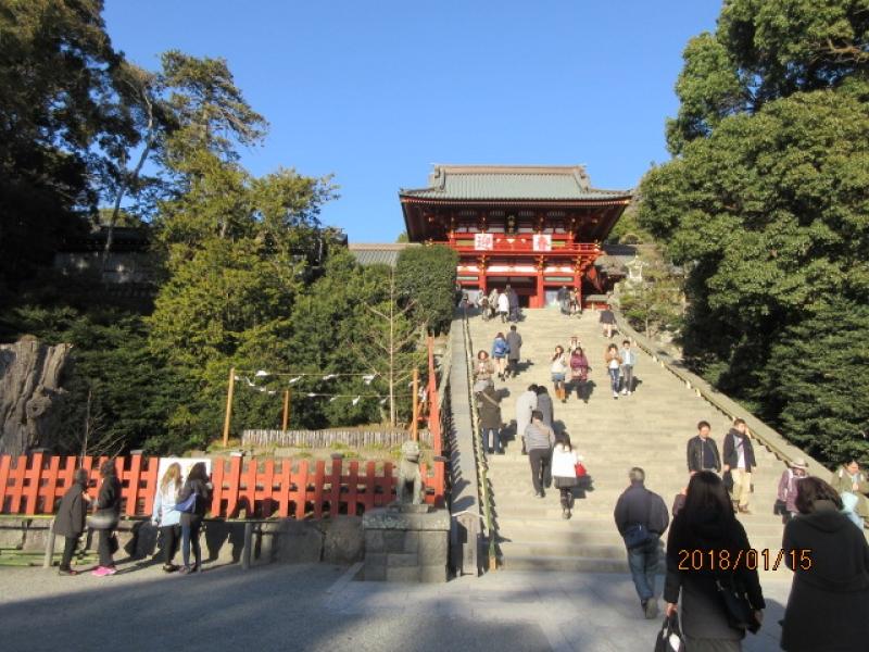 Tsurugaoka Hachimangu Shrine (Shogun Minamoto Yoritomo made it the core of planned city of Kamakura where the first military government was placed in Japan.)