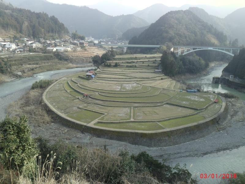Shimizu Aridagun Wakayama prefecture (paddy rice field)
