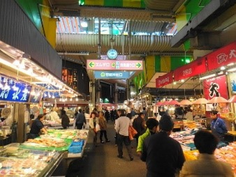 Oumimachi market opened by Oumi merchant