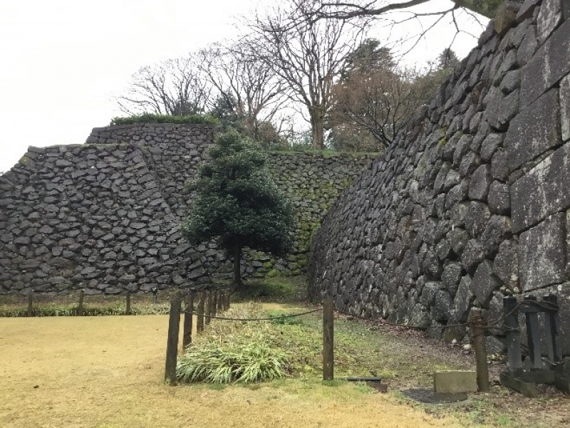 Kanazawa castle with its well preserved and accurately re-created grounds and its stone wall