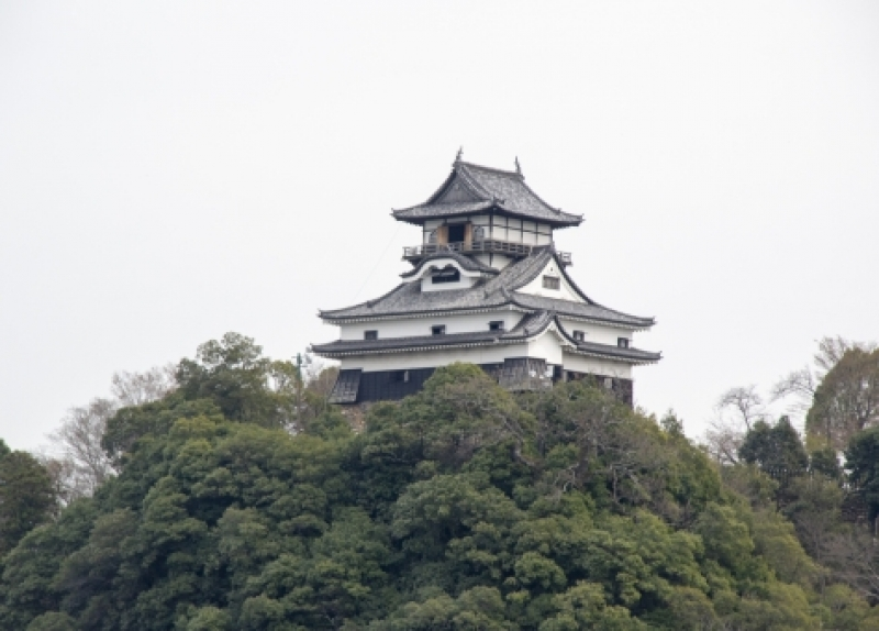 The castle tower of Inuyama castle is the original one which was built in 17th century.