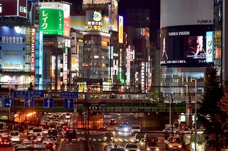 Shinjuku the busiest train station of the wolrd and the town that never sleep.