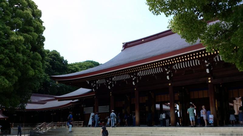 El santuario principal, HONDEN de Meiji jingu