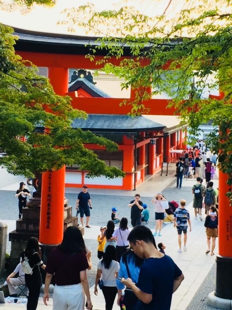 Fushimi inari shrine, vermilion torii gate