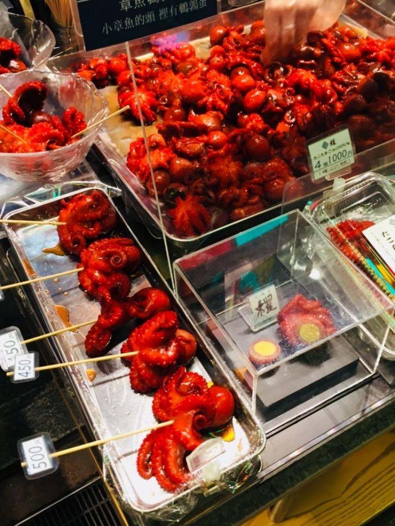 Nishiki food market(octopus ball)