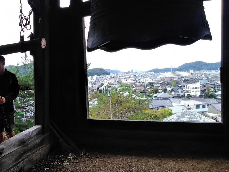 Seki Zenkoji Temple. Beautiful hilltop view with a bell tower. Fresh air.