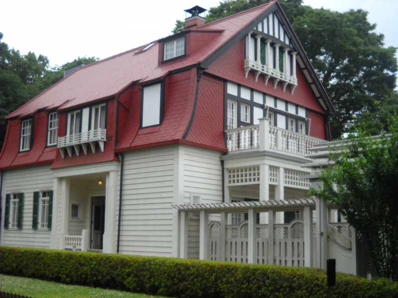 Lalande House, very early western style house in Japan, at Shinanomachi Tokyo.