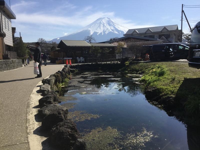 Eight ponds in Oshino Hakkai created by spring water from Mt.Fuji. In Edo era (1603 ~ 1867)