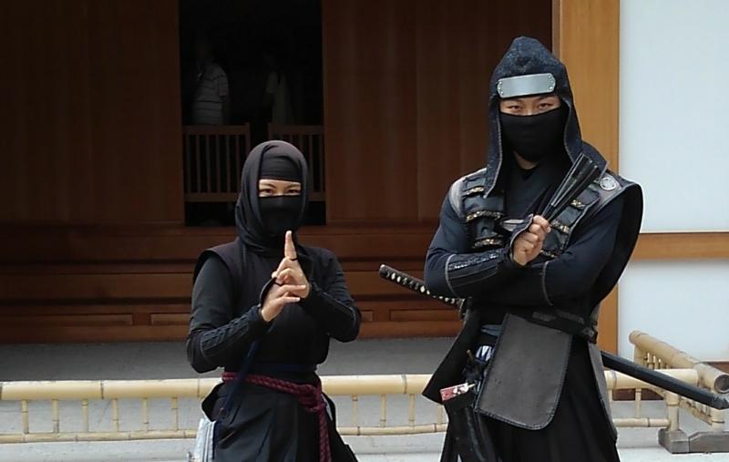 ninjas in Nagoya Castle, you can enjoy their cool performance
