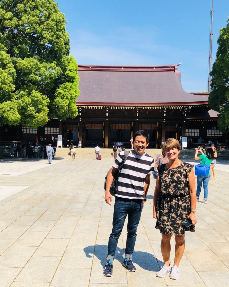 In the middle of city but it is very quiet. Meiji Jingu Shrine. You will have tips about Japanese Shintoism  and its practice.