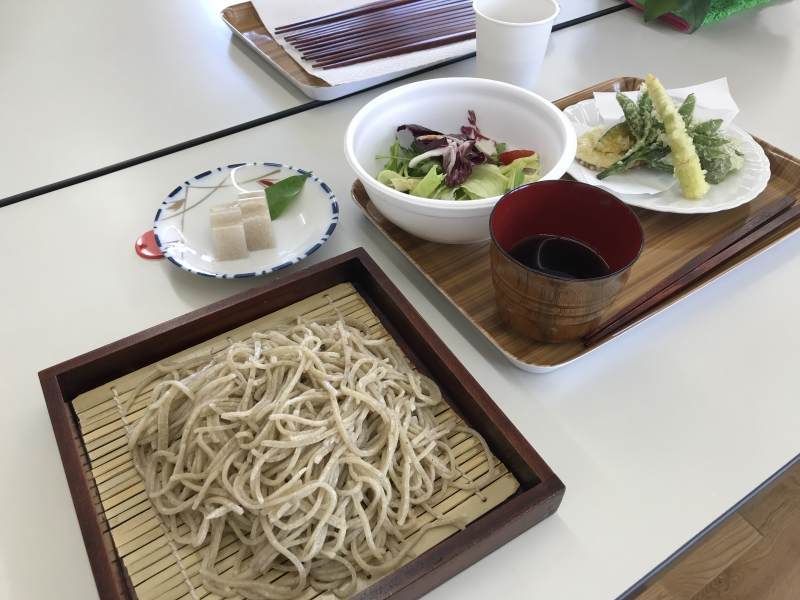 Soba dish (tempura is not included in dish) Eat noodle which you make.