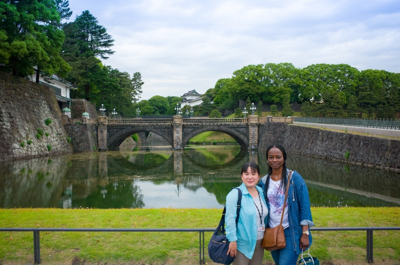 Nijubashi Double Bridge at Imparial Palace, a former Edo castle ground. Popular photo spot.