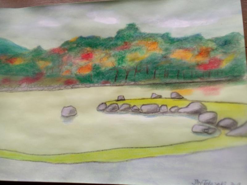 My illustration of the garden of Tenryuji temple,