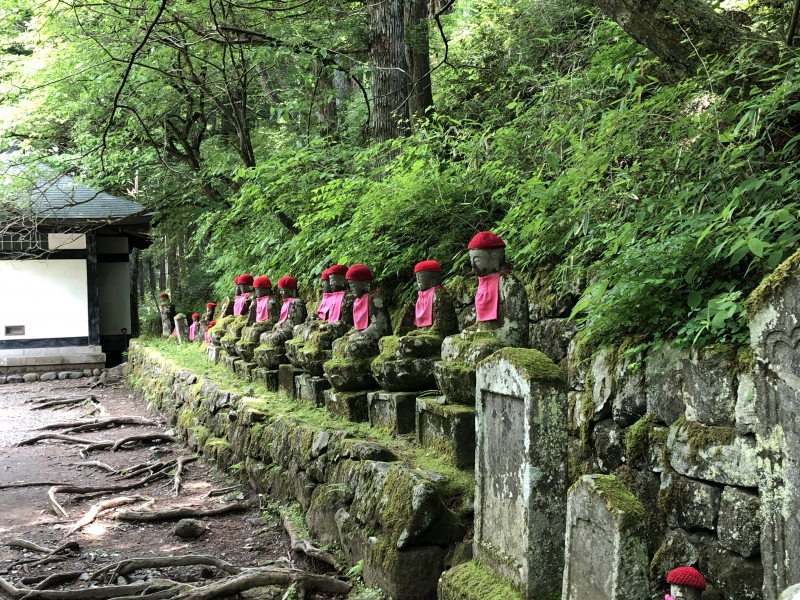Jizo statues in Kanmangafuchi abyss,