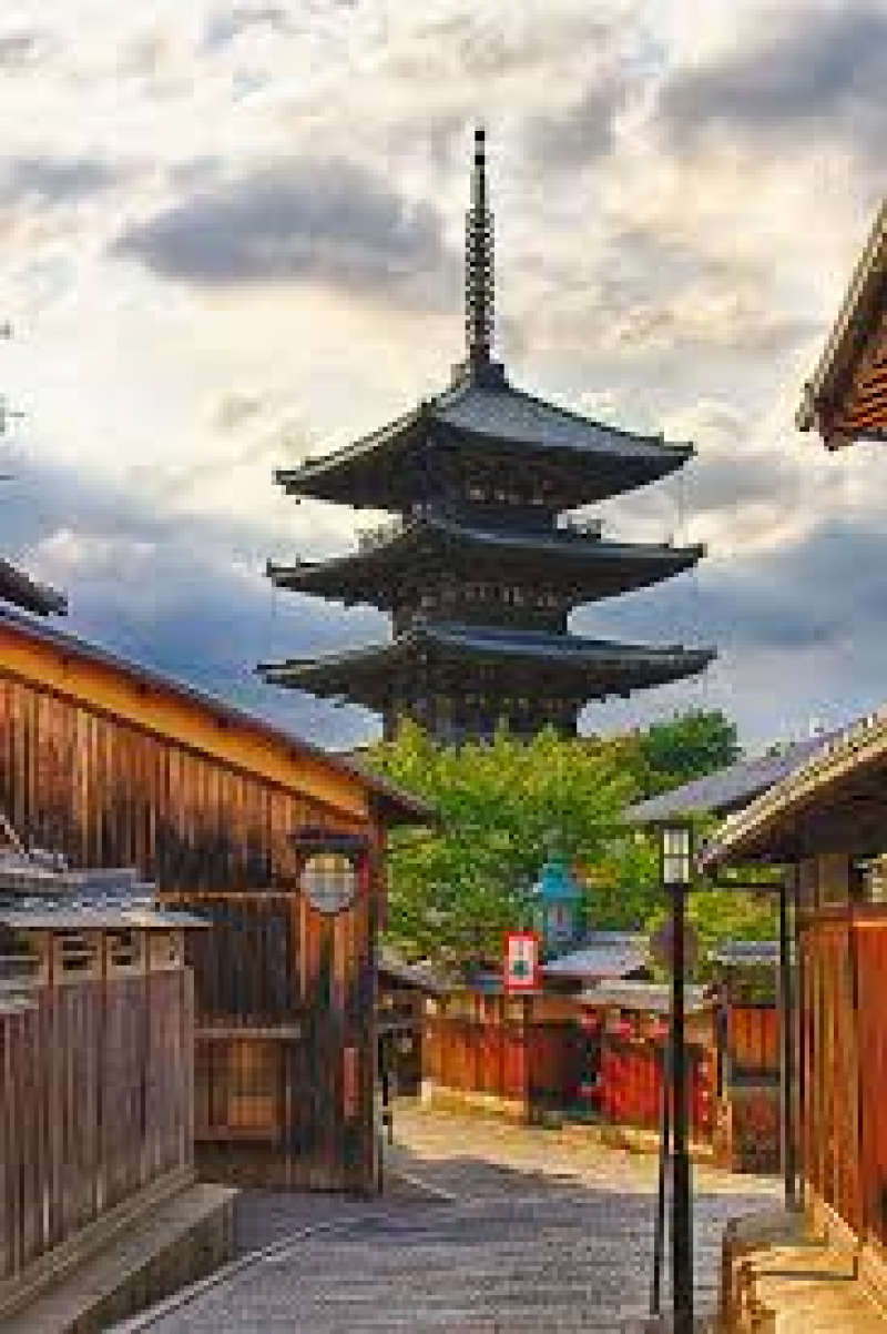 Yasaka pagoda is symbol of Kyoto and is seen from many directions
