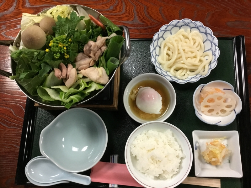 Asuka Nabe:  One of traditional and typical dish in Asuka area. A pot dish with a special broth and milk or soy milk. It was popular dish among the noble clan about 1,300 years ago with chicken, mushrooms, and Asuka vegetables in a special broth and mil or soy milk.