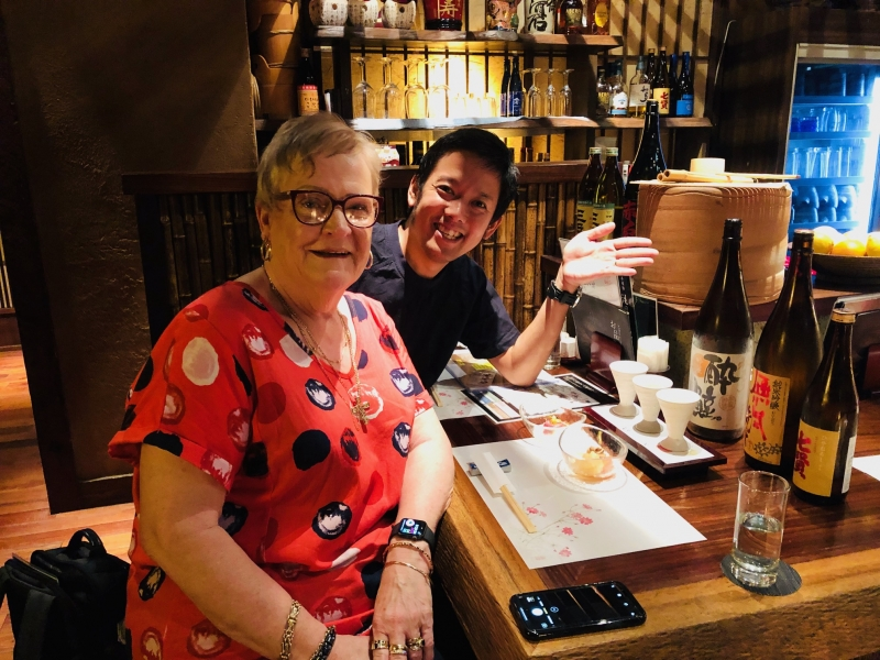 Lets enjoy Japanese Sake at local Izakaya.