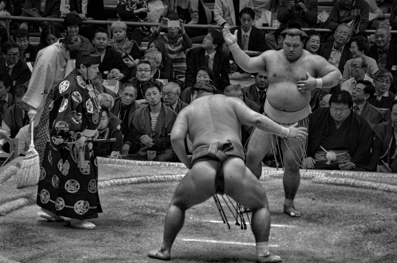 Sumo time!!! Sumo tournament is held in Tokyo 3 times in a year.