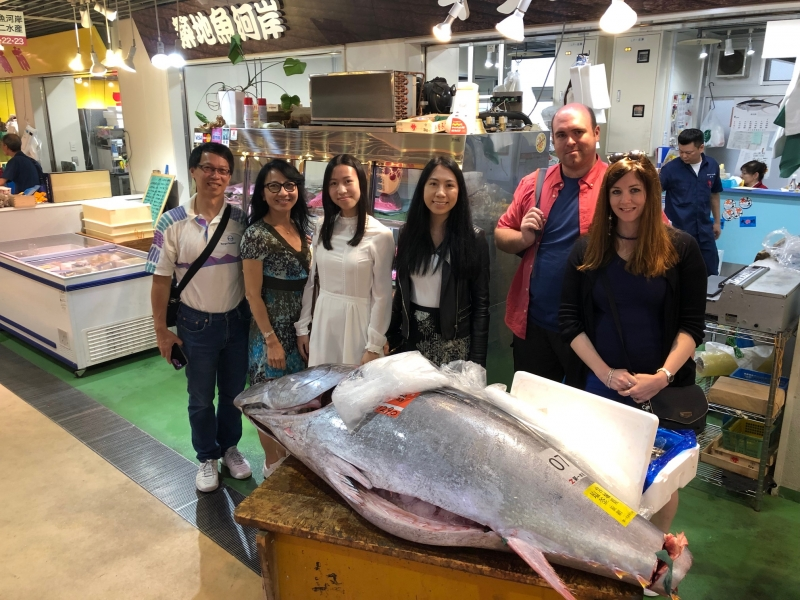 Big blu fin Tuna in Tsukiji Fish Market