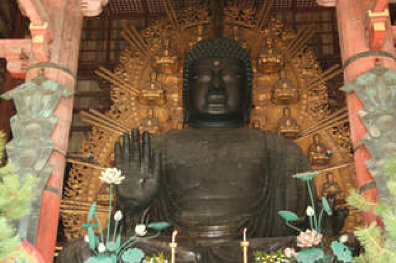 The statue of Great Buddha in Todai-ji temple