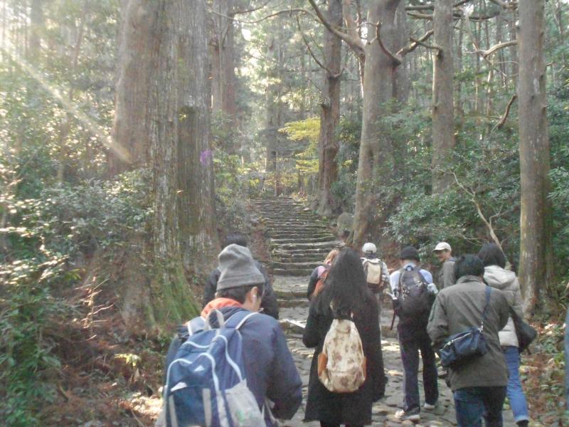 Daimon zaka, ancient stone step road.