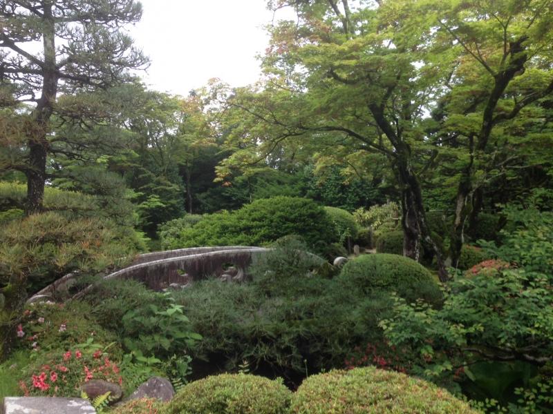Traditional Japanese garden in Nikko Rinnoji Temple