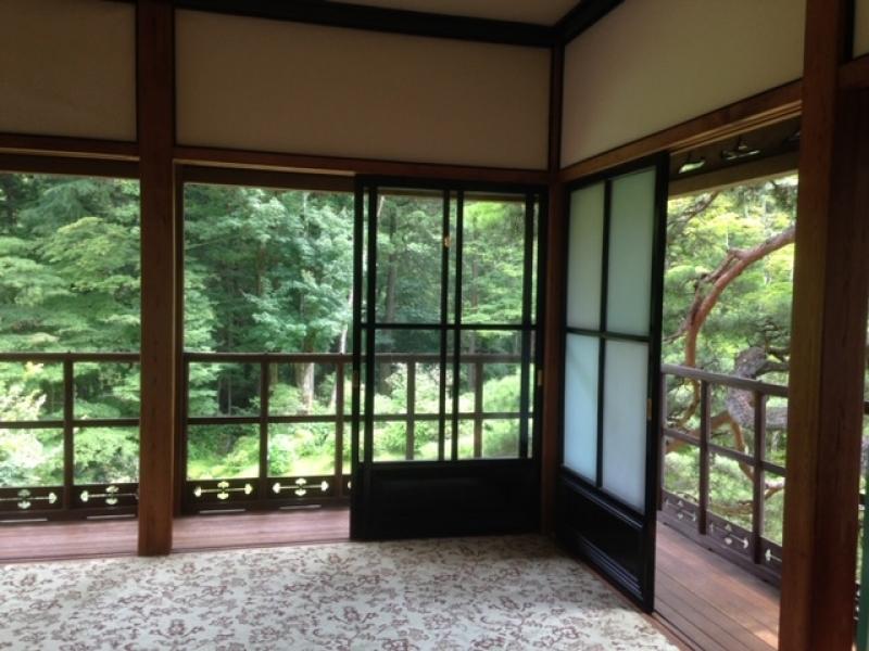 Nikko Tamozawa Imperial Villa You can see the supreme architecture built for three periods, Edo, Meiji,and Taisho.