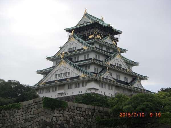 Osaka Castle was originally built by Hideyoshi, legendary feudal lord
