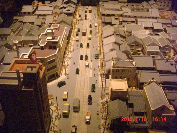 One of old townscapes in Osaka among different periods