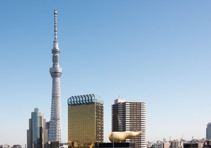 Tokyo sky tree and Asahi beer company