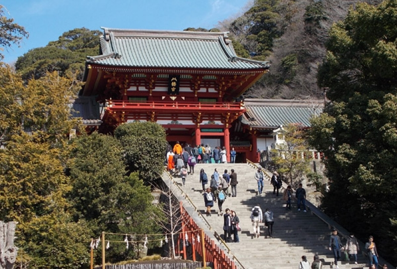 Main Hall of Tsurugaoka Hachimangu Shrine
