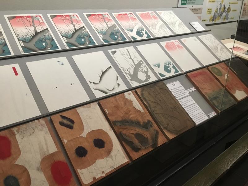 Wood printing in Edo era.