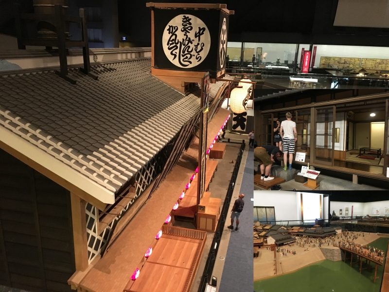 Edo Tokyo Museum has lots of models replicating townscape of Edo including 1:1 scale model.