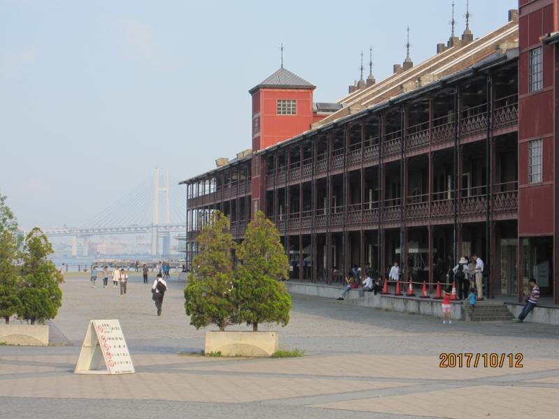 Red Brick Warehouse:Old warehouses at Yokohama port .