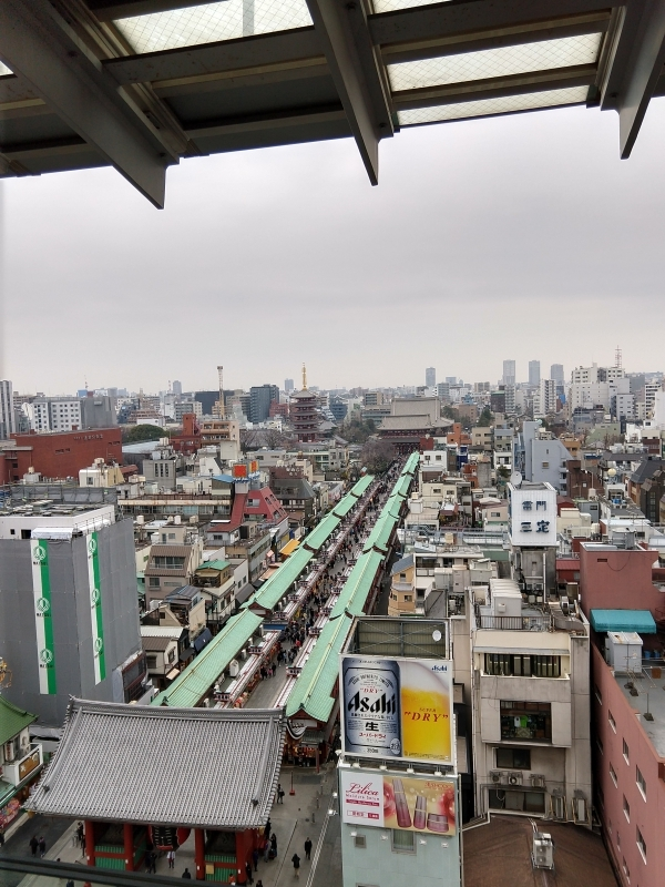 The view from Asakusa sightseeing center