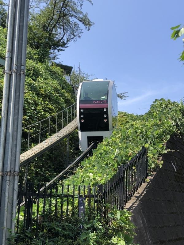 Unique 25-meter monorail to Asukayama Park