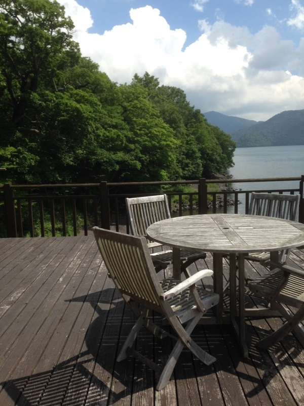 Just sit back and relax at a classic boathouse by Lake Chuzenji