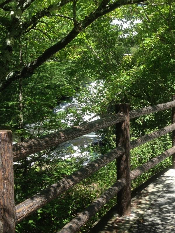 A path along the Ryuzu Falls