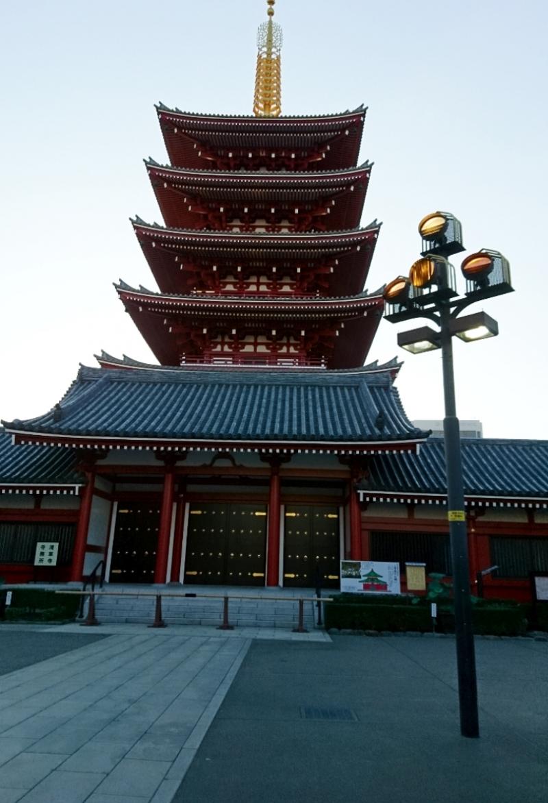 La pagode à cinq niveaux au temple Sensoji à Asakusa